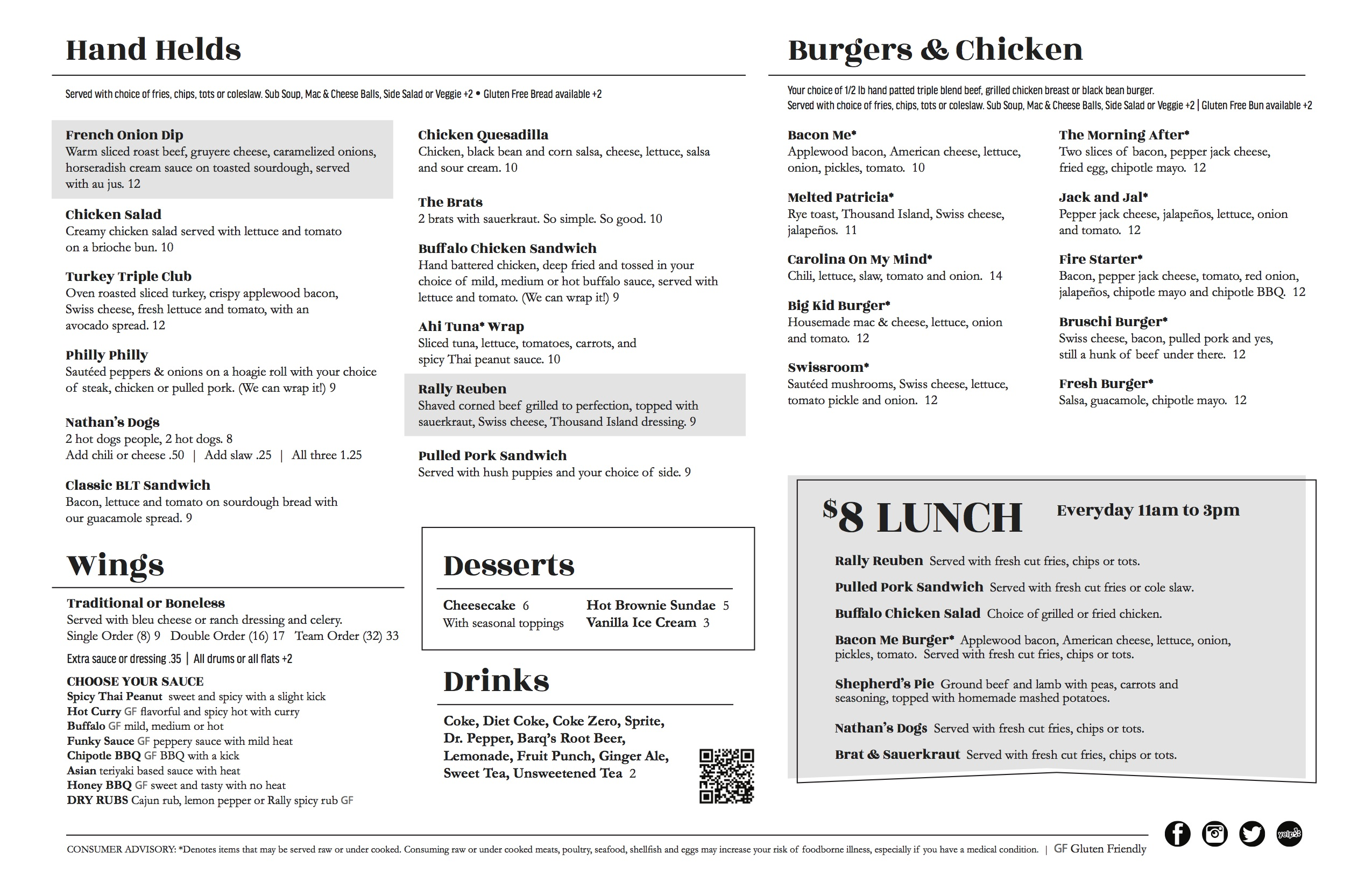 Menu - RallyPoint Sport Grill