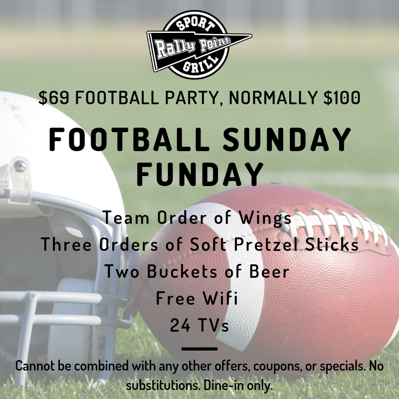 Football Sunday Funday Special at RallyPoint
