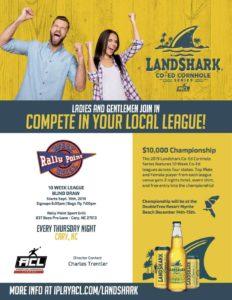 RallyPoint Sport Grill Landshark Cornhole Tournament
