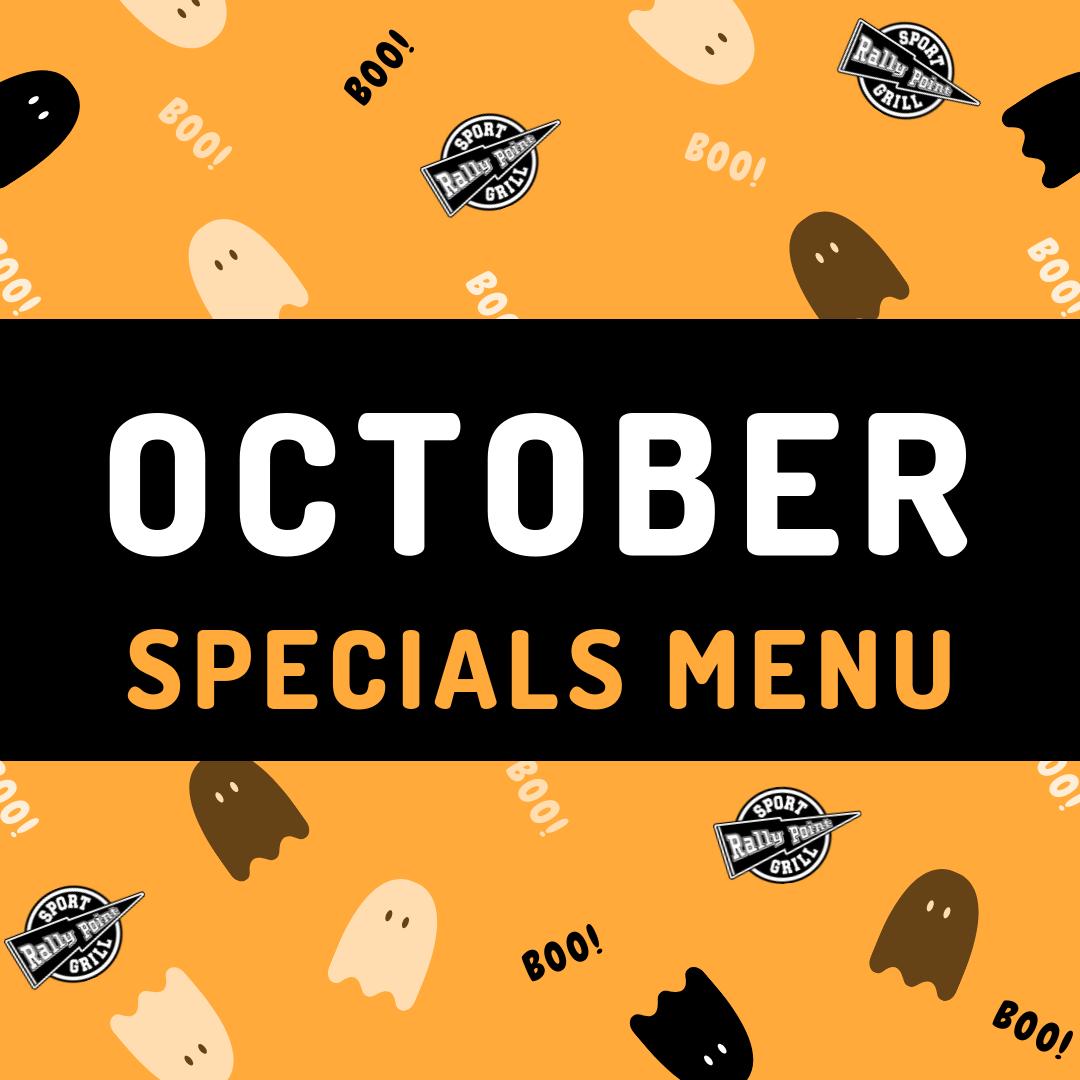 October Specials Menu